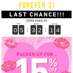 [FOREVER 21] 😱 VALID TODAY ONLY | Use code: JAN15 now! 😱