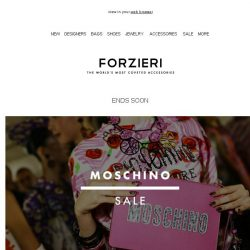 [Forzieri] The Moschino SALE | Ending Soon