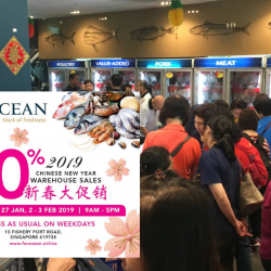 Far Ocean: Chinese New Year Warehouse Sale 2019 with Up to 70% OFF Seafood, Meat, Fresh Produce & More!