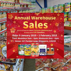HOSEN: Annual Warehouse Sale with Great Fortune Abalone Deals & Many Other CNY Goodies