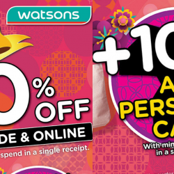 Watsons: 20% OFF Storewide + Additional 10% OFF All Personal Care Products In Stores & Online!