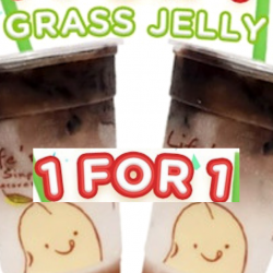 Mr Bean: 1-for-1 Cold Grass Jelly Soya for only $2.10!