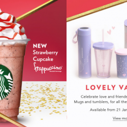 Starbucks: NEW Strawberry Cupcake Frappuccino® & Valentine's Day Collection Available for A Limited Time!