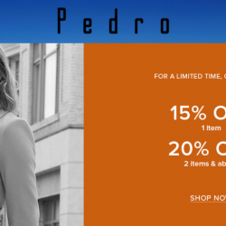 PEDRO: Online Flash Sale with 15% OFF 1 Item or 20% OFF 2 Items & Above!