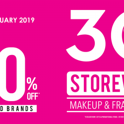 Sasa: Storewide 30% OFF Makeup & Fragrances + PWP 50% Off Exclusive Brands!