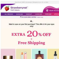 [StrawberryNet] , your Extra 20% Off Ends Tomorrow!
