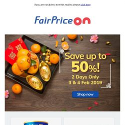 [Fairprice] Save up to 50% - ends tomorrow! 👉