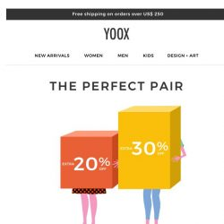 [Yoox] ➡️EXTRA 20% or 30% OFF: Take your pick!  ⬅️