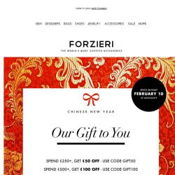 [Forzieri] Final Call | Chinese New Year Exclusive