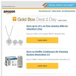 [Amazon] Save up to 25% on Fine Jewelry Gifts for...