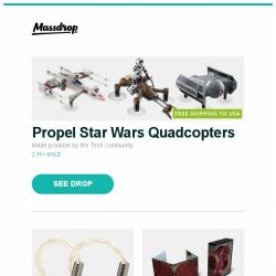 [Massdrop] Propel Star Wars Quadcopters, Tin Audio T3 IEM - Massdrop Debut, D&D Core Rule Book Gift Set (Special Edition) and more...
