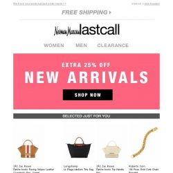 [Last Call] NEW favorites, extra 25% off   Here's what just dropped...