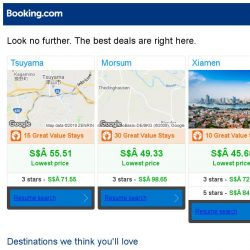 [Booking.com] Tsuyama, Morsum, or Xiamen? Get great deals, wherever you want to go
