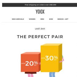 [Yoox] ⏳ Time is running out! Have you picked a promo?