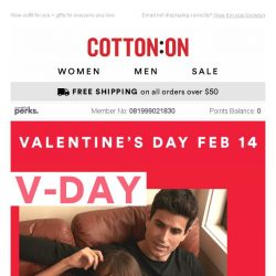 [Cotton On] Spend V-Day your way ❤🍕