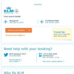 [KLM] Still interested in travelling to Frankfurt/Main?
