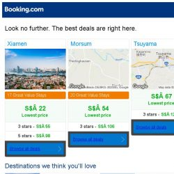 [Booking.com] Xiamen, Morsum, or Tsuyama? Get great deals, wherever you want to go