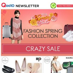 [Qoo10] FASHION SPRING SALE! Be Your Own Valentine and pamper yourselves with these items!