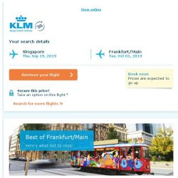 [KLM] Last seats to Frankfurt/Main, book soon