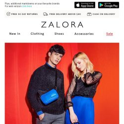 [Zalora] 😱 24-Hour EXTRA 50% OFF Clearance!