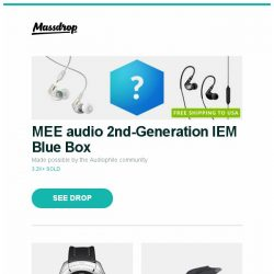 [Massdrop] MEE audio 2nd-Generation IEM Blue Box, Luminox XCOR Aerospace Pilot Quartz Watch, Blunt XS Metro Umbrella and more...