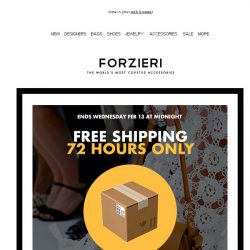 [Forzieri] Free Shipping | 72 hours only on Best of Luxury