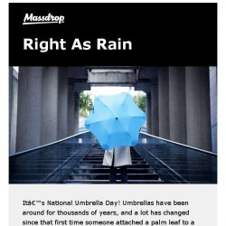 [Massdrop] Got you covered: our picks for Umbrella Day