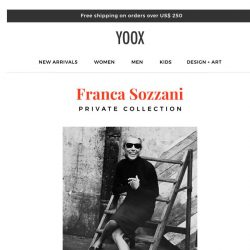 [Yoox] Franca Sozzani Private Collection: exclusively on YOOX