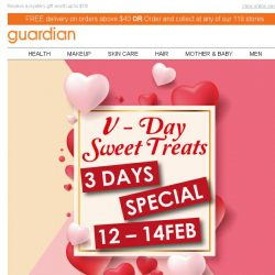 [Guardian] 💘 V-Day Daily Deals + 20% OFF STOREWIDE you'll LOVE!