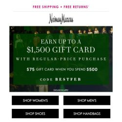 [Neiman Marcus] Don't miss your gift card!
