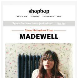 [Shopbop] Got the winter wardrobe blahs? Madewell can help