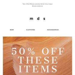 [MDS] 50% Off These Items!   3 Days Only!😍