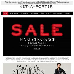 [NET-A-PORTER] The sale ends soon – don't miss out