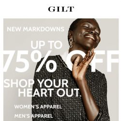 [Gilt] NEW MARKDOWNS >>> Up to 75% Off