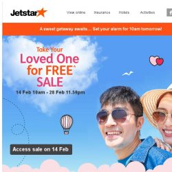 [Jetstar] 💕 Special treat for you this Valentine's Day. Get ready!