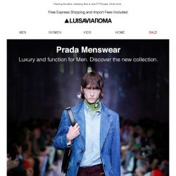 [LUISAVIAROMA] Prada Men: New Arrivals