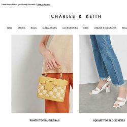 [Charles & Keith] Look Effortless With These Fresh Pieces