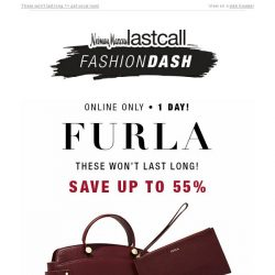[Last Call] 1 day | FURLA handbags up to 55% off