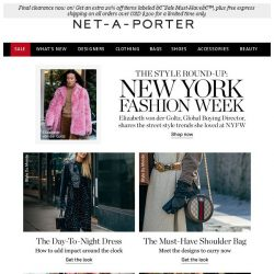 [NET-A-PORTER] The 6 street style looks spotted at NYFW