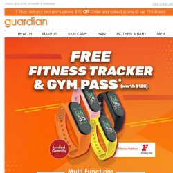 [Guardian] 🏃‍♀🏃‍♂ FREE Fitness Tracker & Gym Pass worth $120 up for grabs!