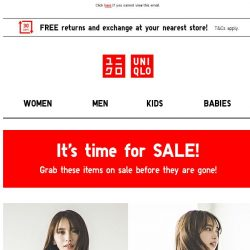 [UNIQLO Singapore] SALE