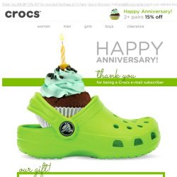 [Crocs Singapore] It's your anniversary. GIFT for you