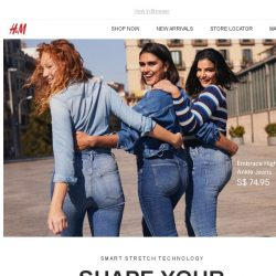 [H&M] NEW: Smart Stretch-denim technology
