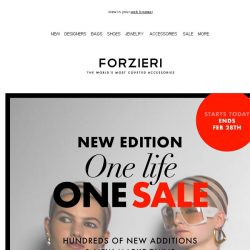 [Forzieri] One life One SALE / New Edition Ends Feb 28th