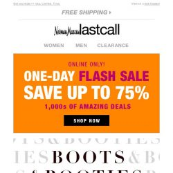 [Last Call] Boots & booties up to 60% off online