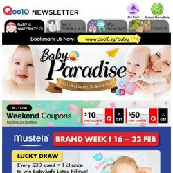 [Qoo10] Mustela Brand Week! First 100 Free Mini Musti + Travel Kit! Skincare series from $9.90 only!