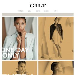 [Gilt] 60 – 85% Off Contemporary Fashion. 24 hours to get in.