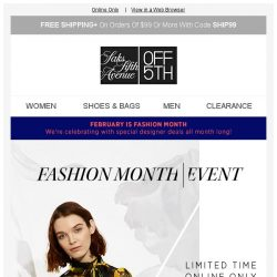 [Saks OFF 5th] Just in time for Fashion Month: Take an extra 30% off designer deals