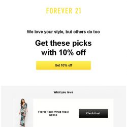 [FOREVER 21] We saw you looking...