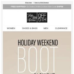 [Saks OFF 5th] For the boot lover: Up to 75% off Aquatalia, Gianvito Rossi & more...